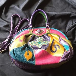 VTG 80s style NAS Patchwork Purse/Shoulder Bag